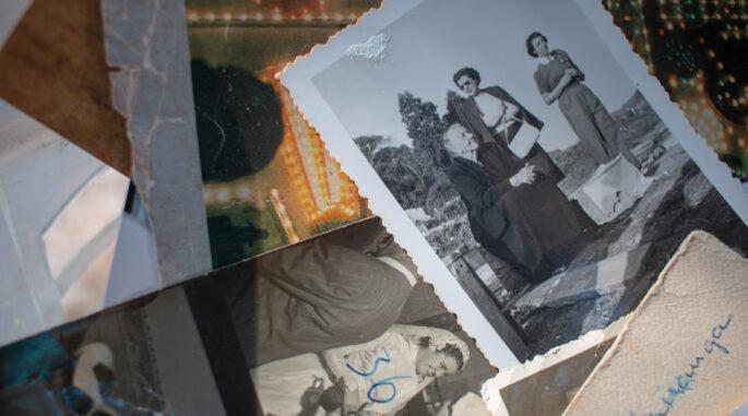 old analogue family photos
