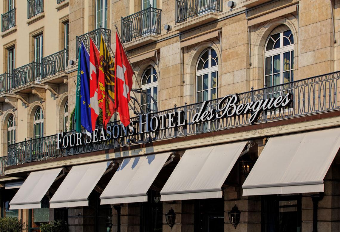 Entranse to Four Seasons Hotel in Geneva